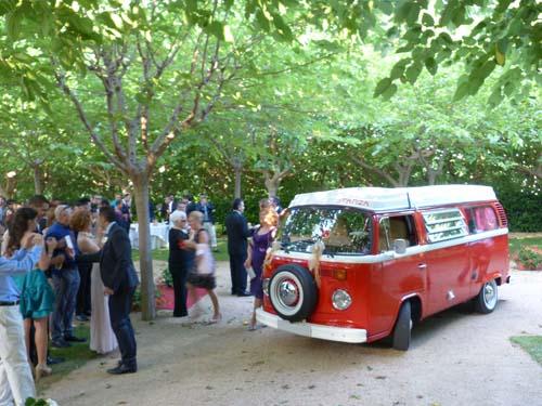 VW Caravelle T2 para alquilar en bodas