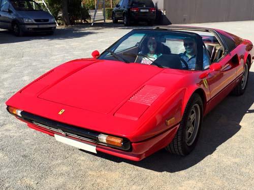 Ferrari clásico en alquiler en Catalunya